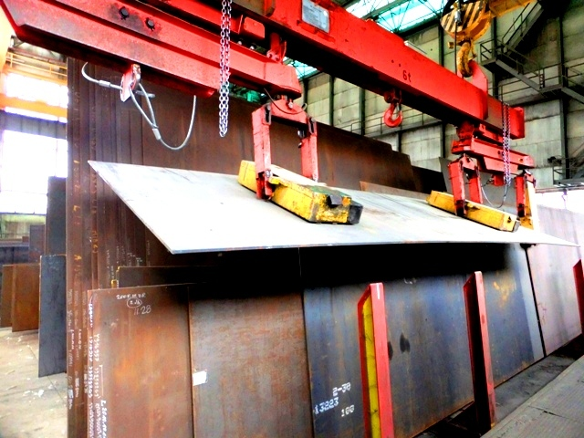 Material handling process of heavy plates